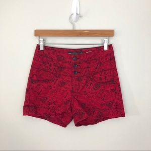 Lovesick High-Waisted Pinup Tattoo Denim Shorts